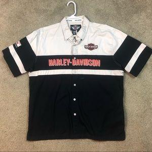 Harley Davidson Button Down Garage Tee